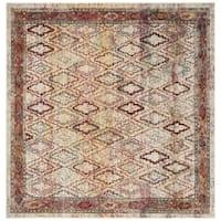 Safavieh Harmony Vintage Cream / Rose Rug (7' x 7' Square)