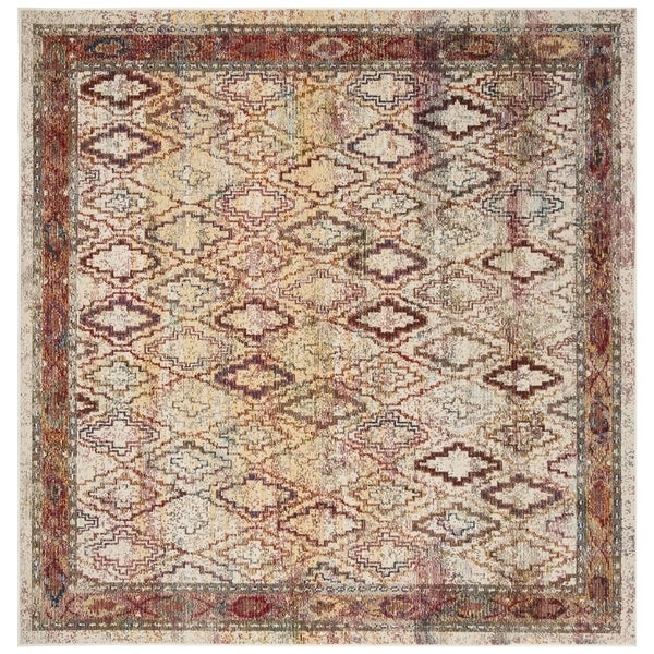 Safavieh Harmony Vintage Cream / Rose Rug (7' x 7' Square)