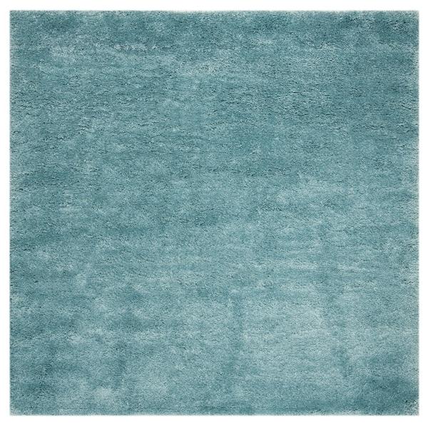 "Safavieh Colorado Shag Contemporary Turquoise Rug (6'7' x 6'7' Square) - 6'-7"" x 6'-7"" square"