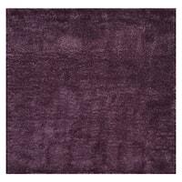 "Safavieh Colorado Shag Contemporary Purple Rug (6'7' x 6'7' Square) - 6'-7"" x 6'-7"" square"