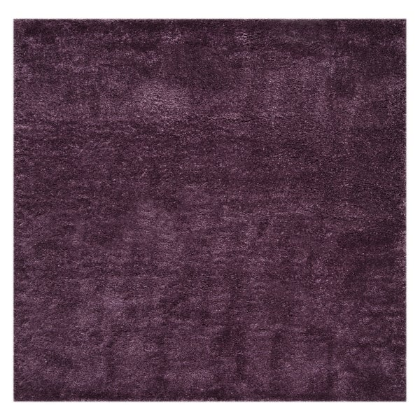 "Safavieh Colorado Shag Contemporary Purple Rug (6'7' x 6'7' Square) - 6'-7"" x 6'-7"" square"