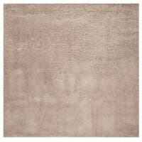 """Safavieh Colorado Shag Contemporary Beige Rug (6'7' x 6'7' Square) - 6'-7"""" x 6'-7"""" square"""