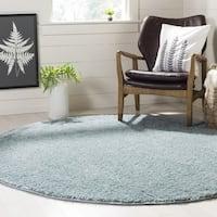 Safavieh New York Shag Blue Rug (6'7' x 6'7' Round)