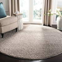 Safavieh New York Shag Grey Rug - 6'7 Round