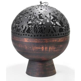 Oversized Fire Bowl with Full Moon Party FireDome by Good Directions