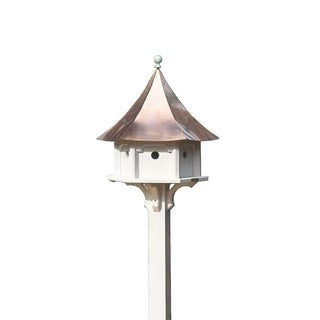 Carousel Bird House with Polished Copper Roof by Lazy Hill Farm Designs
