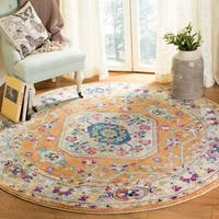 Safavieh Savannah Traditional Orange / Orange Polyester Rug - 7' Round