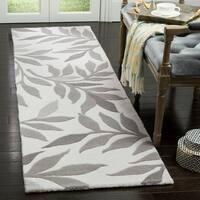 Safavieh Handmade Martha Stewart Contemporary Grey Wool Rug - 2'3' x 8'