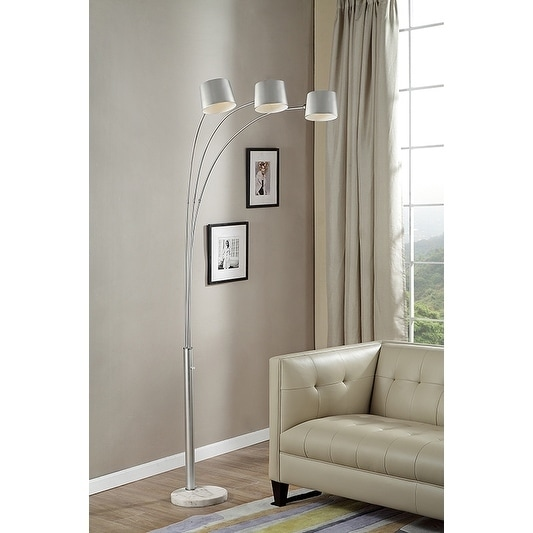 81 Inch Nova Silver 3-Arc Floor Lamp