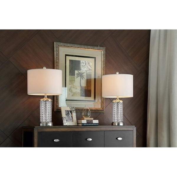 25.5 Inch Celeste Glass Table Lamp Set of 2
