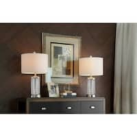 25.5 Inch Celeste Glass Table Lamp Set of 2