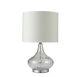 24.5 Inch Leann Fluted Clear Glass Table Lamp