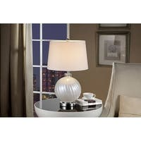 25.5 Inch Akoya Off White Glass Table Lamp