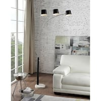 81 Inch Nova Black 3-Arc Floor Lamp