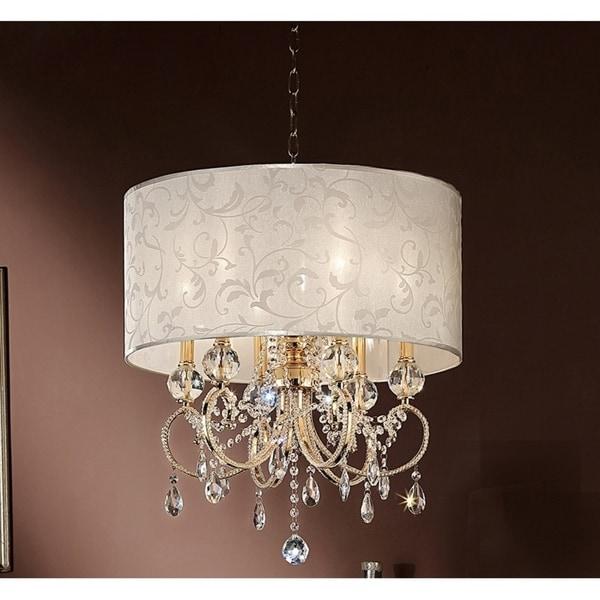 245 inch aurora barocco shade crystal gold ceiling lamp chandelier 245 inch aurora barocco shade crystal gold ceiling lamp chandelier aloadofball Gallery