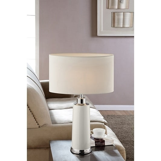 27.5 Inch Pegasi Ivory Metal Table Lamp