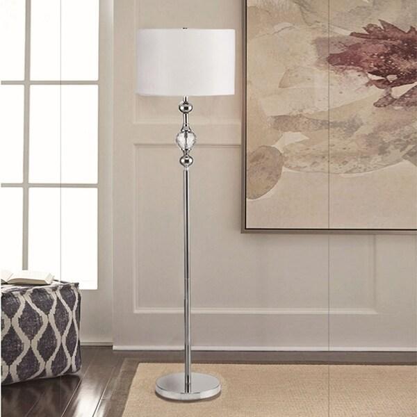 62.5 Inch Leona Crystal and Chrome Floor Lamp