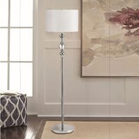62.5 Inch Leona Crystal and Chrome Floor Lamp