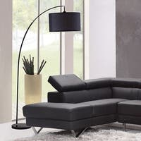 86 Inch Bella Black Arc Black Marble Floor Lamp