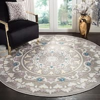 Safavieh Paradise Contemporary Grey / Light Grey Viscose Rug - 6'7 Round