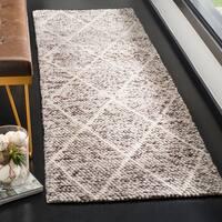 """Safavieh Handmade Natura Southwestern Ivory / Stone Wool Rug - 2'3"""" x 8'"""
