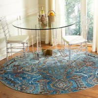 Safavieh Harmony Vintage Blue / Light Blue Rug (7' x 7' Round)