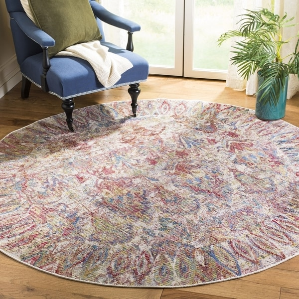 Safavieh Harmony Vintage Light Grey / Rose Rug (7' x 7' Round)