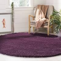 """Safavieh Colorado Shag Contemporary Purple Rug (6'7' x 6'7' Round) - 6'-7"""" x 6'-7"""" round"""