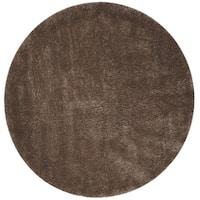 "Safavieh Colorado Shag Contemporary Mushroom Rug (6'7' x 6'7' Round) - 6'-7"" x 6'-7"" round"