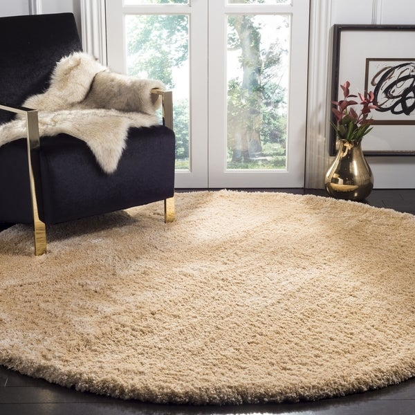 Safavieh Colorado Shag Contemporary Champagne Rug (6'7' x 6'7' Round)