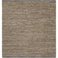 Safavieh Hand-Woven Vintage Leather Contemporary Beige Leather Rug (6' x 6' Square) - 6' x 6' Square