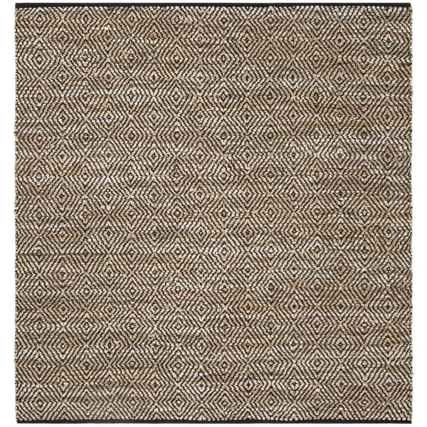 Safavieh Hand-Woven Vintage Leather Contemporary Beige Leather Rug (6' x 6' Square)