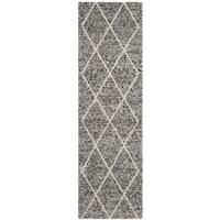 "Safavieh Handmade Natura Southwestern Ivory / Black Wool Rug - 2'3"" x 8'"