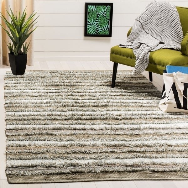 Safavieh Hand-Woven Montauk Contemporary Beige / Multi Cotton Rug (6' x 6' Square) - 6' x 6' Square