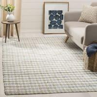 Safavieh Hand-Woven Montauk Contemporary Beige / Multi Cotton Rug (6' x 6' Square)