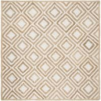 Safavieh Hand-Woven Cape Cod Contemporary Natural / Ivory Jute Rug (6' x 6' Square) - 6' x 6' Square