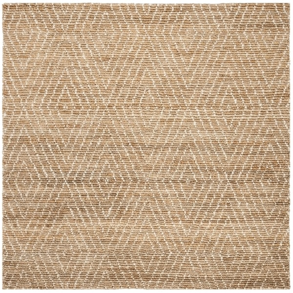 Safavieh Hand-Knotted Bohemian Contemporary Natural / Ivory Jute Rug (6' x 6' Square)