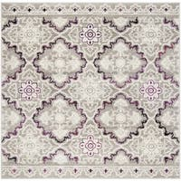 "Safavieh Skyler Contemporary Grey / Pink Rug (6'7' x 6'7' Square) - 6'-7"" x 6'-7"" square"