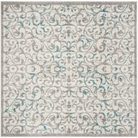 Safavieh Skyler Contemporary Ivory / Blue Rug (6'7' x 6'7' Square)