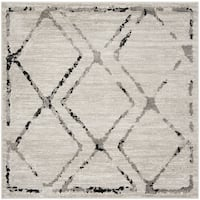 "Safavieh Skyler Contemporary Ivory / Grey Rug (6'7' x 6'7' Square) - 6'-7"" x 6'-7"" square"