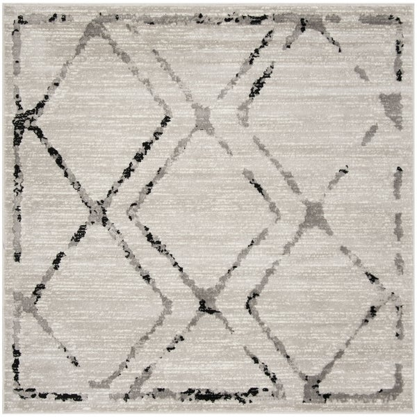 "Safavieh Skyler Contemporary Ivory / Grey Rug (6'7' x 6'7' Square) - 6'-7"" x 6'-7"" square"