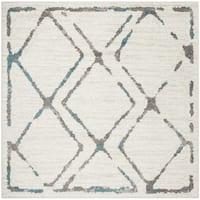 Safavieh Skyler Contemporary Ivory / Blue Rug (6'7' x 6'7' Square)
