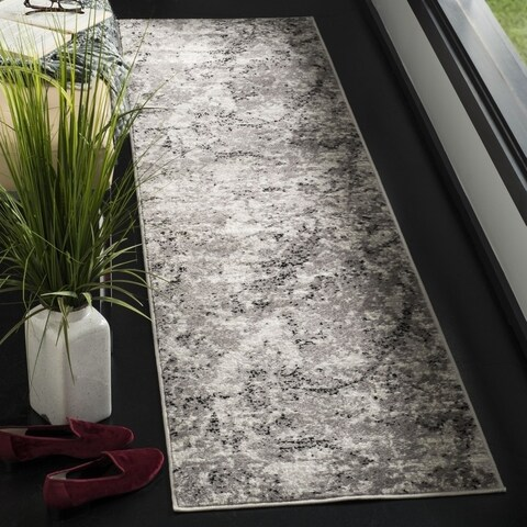 Safavieh Skyler Contemporary Grey / Ivory Rug (2' x 8') - 2' x 8'