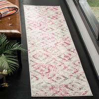 Safavieh Skyler Contemporary Ivory / Pink Rug - 2' x 8'