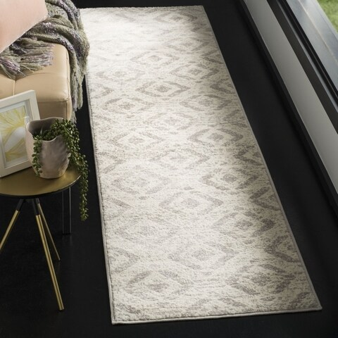 Safavieh Skyler Contemporary Ivory / Grey Rug (2' x 8') - 2' x 8'