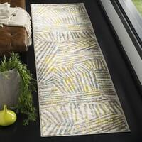 Safavieh Skyler Contemporary Grey / Green Rug - 2' x 8'