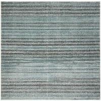 Safavieh Skyler Contemporary Blue / Grey Rug (6'7' x 6'7' Square)