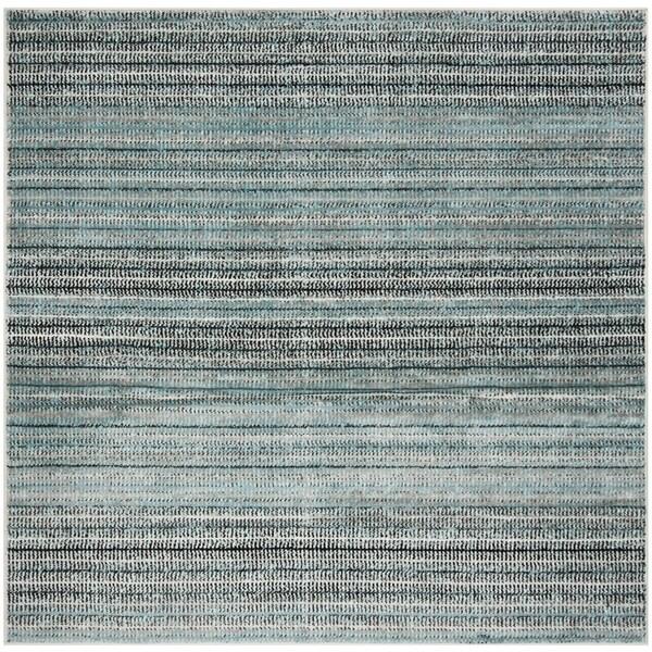 """Safavieh Skyler Contemporary Blue / Grey Rug (6'7' x 6'7' Square) - 6'-7"""" x 6'-7"""" square"""
