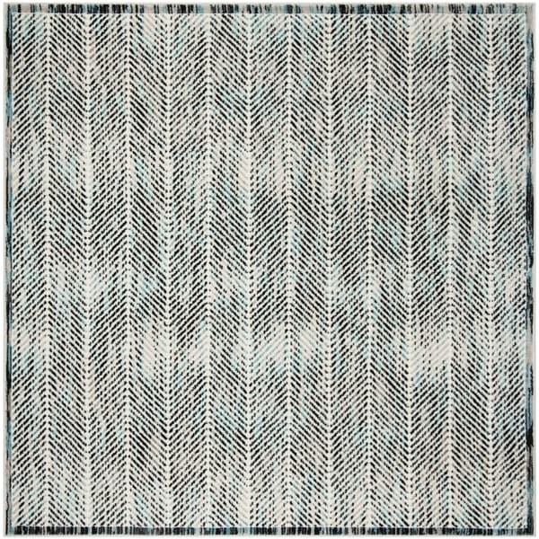 """Safavieh Skyler Contemporary Grey / Blue Rug (6'7' x 6'7' Square) - 6'-7"""" x 6'-7"""" square"""