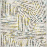 "Safavieh Skyler Contemporary Grey / Green Rug (6'7' x 6'7' Square) - 6'-7"" x 6'-7"" square"
